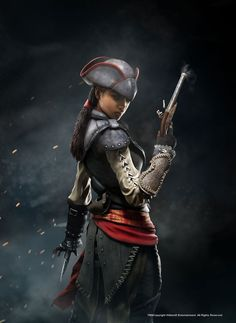 This is another portrait of Aveline that was used for downloadable content addition for Assassin's Creed IV: Black Flag. Created with Digital 3D and Digital 2D techniques.
