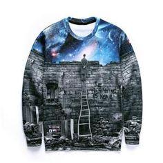 Women Men Sweats Sudaderas Space Pullovers Moleton Hoodies Sexy Sweatshirts Print 3D Galaxy Sweatshirts Jumper pull camisolas - Hespirides Gifts - 1