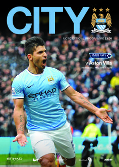 COVER STAR: Sergio Aguero adorns the #cityvvilla match programme available at the game tomorrow!