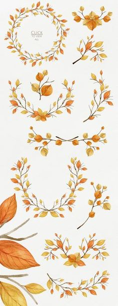 Warm Autumn. Watercolor DIY Pack by NataliVA on Creative Market