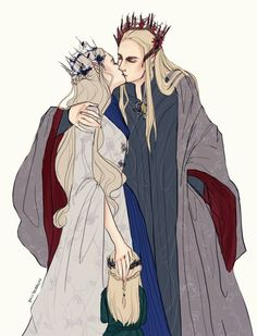 King & Queen of Mirkwood (plus the little Prince) You know what? I just pinned this one other time. But honestly, I don't care. Seriously. This. Is. The. Best.