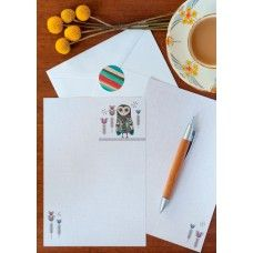 Eco friendly gift for Mum - Lesser Sooty Owl Writing Set Designed by Inaluxe for Earth Greetings.