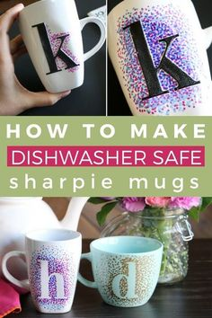 DIY Sharpie Mugs That Are Washable | Kaleidoscope Living