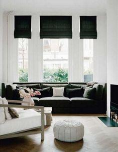 Custom sofa for the bay windows