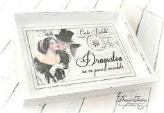 Vintage Couple Shabby Tray  #handmadeinromania