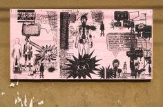 "Stephen Woolley, Ficciones Typografika 508-510 (24""x36""). Installed on June 11, 2014. More: http://ficciones-typografika.tumblr.com/"