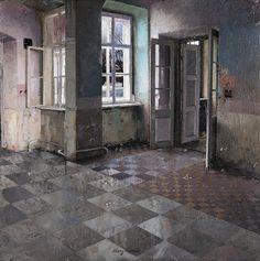 cuadro de interior abandonado por matteo massagrande