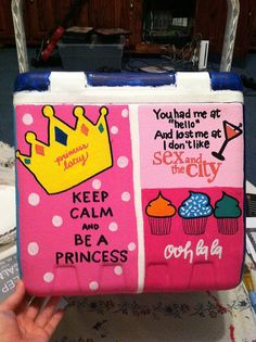 painted cooler - Google Search  that awkward moment when your cooler shows up on your dash.