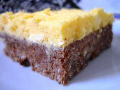fekete fehér süti sütés nélkül (kókuszos) Hungarian Recipes, Hungarian Food, Food And Drink, Dessert Recipes, Pie, Cookies, Baking, Healthy, Sweet