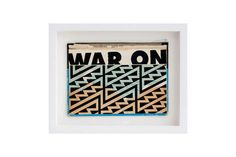 War On Terror BC:NYC Paper Collage, Silkscreen Ink on Book Cover, Framed 11 x 9 Inches (frame size) Original Snowboard Design, Summer Books, Frame Sizes, Screen Printing, Collage, Nyc, The Originals, Paper, Prints