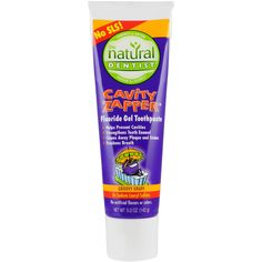 The Natural Dentist Cavity Zapper Fluoride Gel Toothpaste, Groovy Grape, 5 oz: Your kids want fun and a taste they like from their toothpaste. You want a proven cavity fighter they will use. Tooth Enamel, How To Prevent Cavities, Health And Wellness, Stains, Science, Natural, Products
