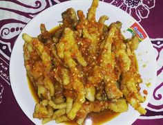 Ceker iblis super pedas My Recipes, Cooking Recipes, Malaysian Food, Indonesian Food, Dim Sum, Chicken Wings, I Foods, Macaroni And Cheese, Side Dishes