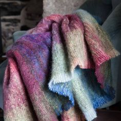 Kaleidoscope Luxury Mohair Throw Made in Ireland