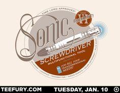 Sonic Screwdriver T-shirt design by artist Steve Thomas...