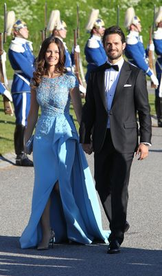 Prince Carl Philip of Sweden and his fiancé Sofia Hellqvist attend their pre-wedding dinner on June 12, 2015