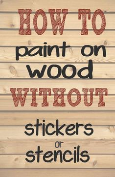 How to paint letters and words on wood without needing stencils or stickers. - How to paint letters and words on wood without needing stencils or stickers. Making those professi - Painted Letters, Painted Signs, Stencil Letters On Wood, Stencil Patterns Letters, Stencils For Wood Signs, Sign Letters, Monogram Signs, Diy Wood Projects, Woodworking Projects