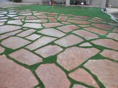 Beautiful Integration Of SYNLawn With Flagstone! Hard To Tell Itu0027s Not Real  Grass!