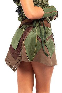 VEGETARIAN LEATHER SUEDE PSY SKIRT trance pixie festival boho 8 10 12 14 16