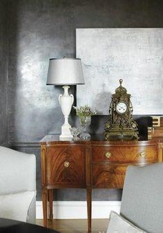 Glanz Wandgestaltung Mit Farbe Wand Streichen Ideen Grau Schein