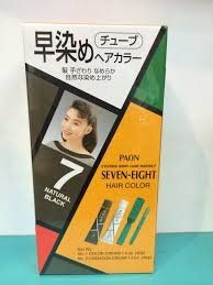 Paon Seven-eight Permanent Hair Color -7 Natural Black -tube 1 Color Cream 1.4 Oz - Tube 2 Oxidation Cream 1.4 Oz With Comb And Brush Box ** For more information, visit image link.