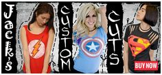 Jack's Custom Cuts for Girls check them out!! | Jack of all Trades Clothing sells online!