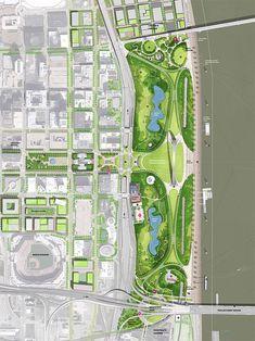 Expansión del Jefferson National Memorial en St. Louis. Michael Van Valkenburgh Associates, Inc.