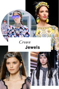 If the words hair jewelry send you flashing back to chintzy preteen baubles, think again. Spring's tress accessories are elevated, unlikely additions to your jewelry box, from the tiaras donned by Hedi Slimane's lank-haired grunge princesses to Karl Lagerfeld's heavy-metal headbands.