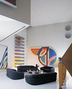 Modern color scene with Frank Stella painting