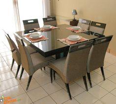 mesas de jantar quadradas 8 lugares 1