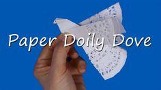 Paper doily Peace Dove craft