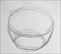 how to draw a realistic fruit bowl step by step