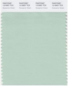 Pantone Smart 13-5907 TCX Color Swatch Card   Gossamer Green   Magazine Cafe Store NYC USA