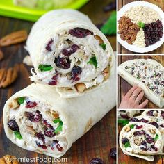 Chicken, Cranberry, Pecan Salad Wraps – a super lunch or wonderful addition! This salad is perfect for any occasion and very easy to make. Chicken, Cranberry, Pecan Salad Wraps – delicious and sati… Pecan Rolls, Good Food, Yummy Food, Yummy Yummy, Salad Wraps, Lettuce Wraps, Most Delicious Recipe, Incredible Recipes, Wrap Recipes