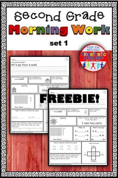Here's a free set of second grade morning work for the month of September. Reading Fluency Activities, Detox Kur, Patches, 2nd Grade Worksheets, Elementary Schools, Elementary Teacher, Morning Work, Sight Words, Word Work