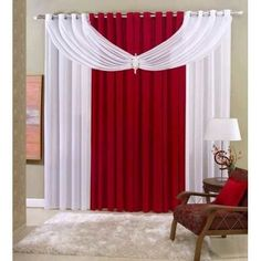 Risultati immagini per cortinas diseños faciles Curtain Styles, Curtain Designs, Home Curtains, Window Curtains, Curtains Living, Valance, Rideaux Design, Living Room Decor, Bedroom Decor