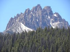The Sawtooth Mtns, Idaho. Our cabin is there and my childhood is there.