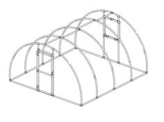 11 DIY Greenhouse Plans That are Free: Arched PVC Greenhouse Plan by PVC Plans