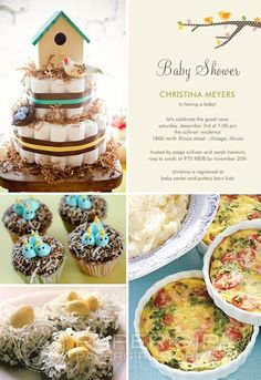 bird baby shower inspiration - one of the coolest diaper cakes I've ever seen!