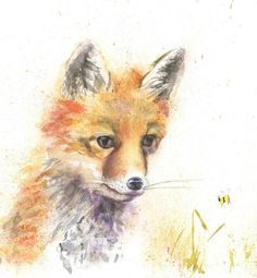 A limited edition print of my original contemporary watercolour painting. The paper we use is very similar to watercolour paper. It is an archival grade, fine-art print paper that is acid-free and made from cotton, with a weight, that gives great results. Watercolor Illustration, Watercolour Painting, Watercolours, Wildlife Paintings, Wildlife Art, Animal Art Prints, Fine Art Prints, Mein Café, Helen Rose