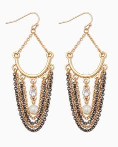 charming charlie | Shimmer Swag Earrings | UPC: 400000104706 #charmingcharlie