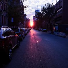 Early morning run through the streets of NYC!  #nyc #sunrise