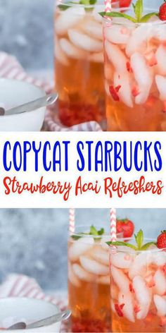 Here is a quick easy homemade strawberry acai refresher drink recipe. If you're looking for a refreshing and delicious copycat starbucks strawberry acai refresher then try this one out. great strawberry acai refresher. With a few simple ingredients you can make strawberry acai refresher. #strawberry #acai #drink Strawberry Refresher Recipe, Acai Refresher Recipe, Starbucks Strawberry Acai Refresher, Strawberry Drink Recipes, Strawberry Puree, Coffee Drink Recipes, Alcohol Drink Recipes, Starbucks Recipes, Coffee Drinks