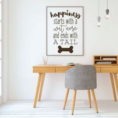 Dog Lover Gifts - Happiness Starts With A Wet Nose - Vinyl Sticker Wall Decal For Home Decor or Veterinary Clinic Decoration >>> To view further for this item, visit the image link. (This is an affiliate link) Dog Lover Gifts, Gift For Lover, Dog Lovers, Dog Gifts, Wall Stickers, Wall Decals, Vinyl Decals, Oracal Vinyl, Dog Rooms