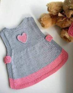 Ideas Crochet Cardigan Pattern Girls Baby Sweaters For 2019 Baby - Diy Crafts - DIY & Crafts Crochet Baby Sweaters, Knitted Baby Clothes, Baby Dress Patterns, Baby Knitting Patterns, Knitting Ideas, Knitting Stitches, Crochet Patterns, Baby Vest, Baby Cardigan