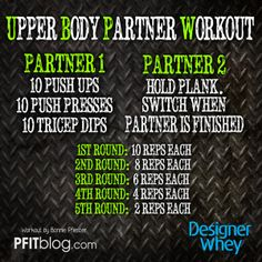 UPPER BODY PARTNER WORKOUT @matt sung Whey #fitfluential