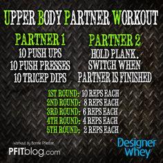 UPPER BODY PARTNER WORKOUT @matt sung Whey #fitfluential