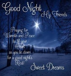 Good night my precious angels.Have a blessed weekend. See you in the morning.Love and hugs.