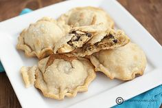 A dessert enveloped in a dessert - what's not to adore?! :) Mini Chocolate Chip Cookie Hand Pies.