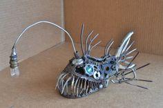 Metal Art - Angler Fish Sculpture