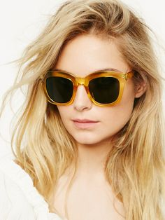 Kensington Sunglass | Wayfarer sunnies with a bold plastic frame and tinted lenses. *By Free People